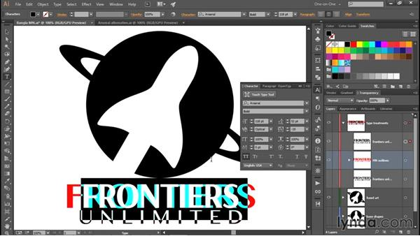 Formatting your logo with a free OpenType font: Creating and Adapting a Logo
