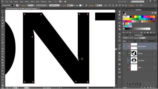 Reshaping a letter with the Join tool: Creating and Adapting a Logo
