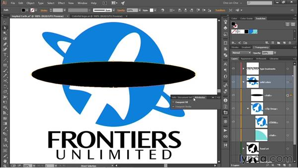 Modifying art inside a clipping group: Creating and Adapting a Logo