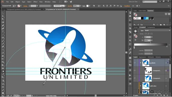 Blending a second gradient using translucency: Creating and Adapting a Logo
