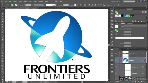 Coloring a gradient with a blend mode: Creating and Adapting a Logo