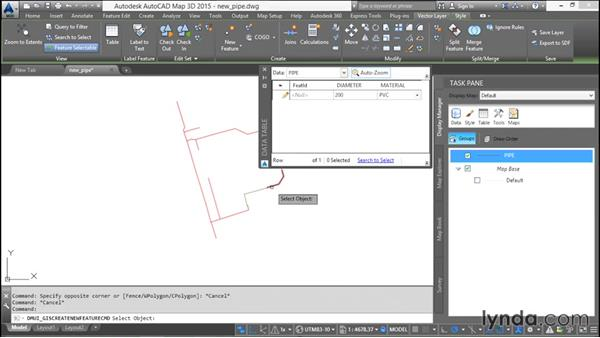 Drawing using existing AutoCAD features: Using SQL Server Spatial with AutoCAD Map 3D