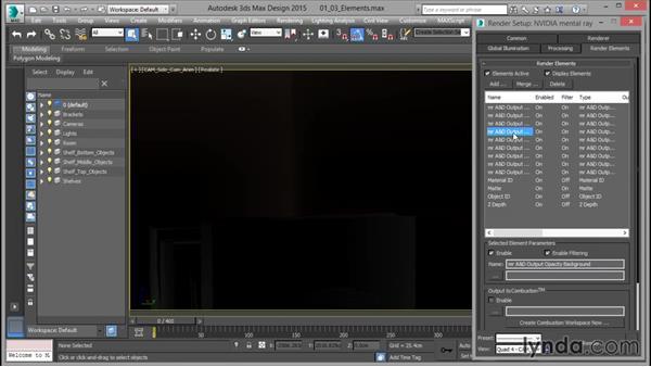 The render elements UI: Rendering for Composites inside 3ds Max