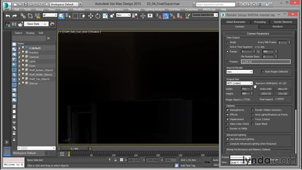 Final render settings and outputting: Rendering for Composites inside 3ds Max
