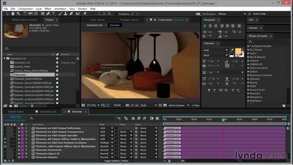 Adjusting the Ambient Occlusion element: Rendering for Composites inside 3ds Max