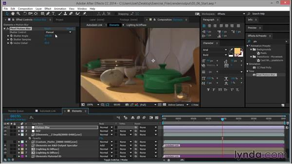 Adding motion blur: Rendering for Composites inside 3ds Max