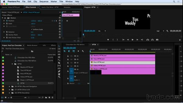 Animating Photoshop files in Premiere Pro: Video Post Tips Weekly