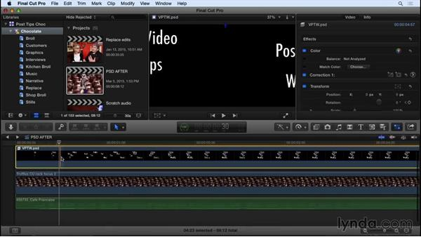 Animating Photoshop files in FCP X: Video Post Tips Weekly