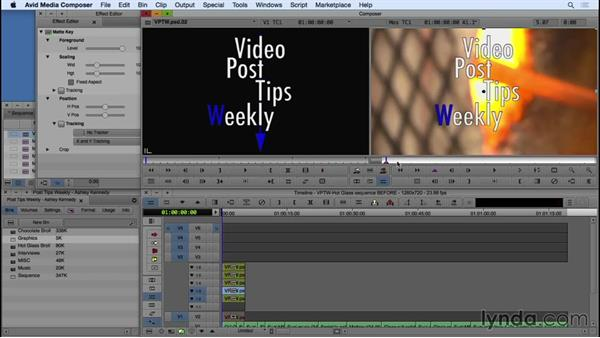 Animating Photoshop files in Avid Media Composer: Video Post Tips Weekly
