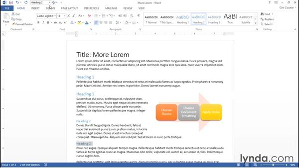 One-click document formatting: Word 2013: Styles in Depth