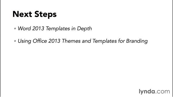 Next steps: Word 2013: Styles in Depth