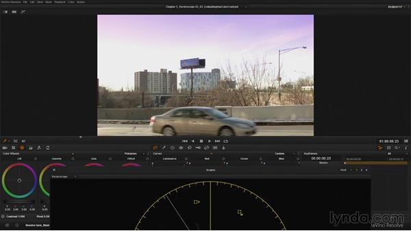 Evaluating overall hue and color contrast: DaVinci Resolve Guru: Mastering Scopes