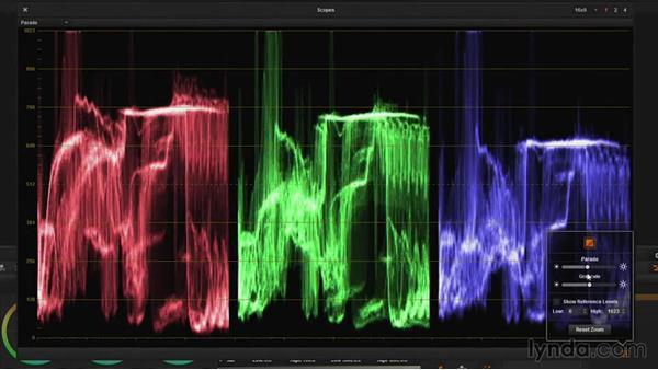 RGB Parade options: DaVinci Resolve Guru: Mastering Scopes