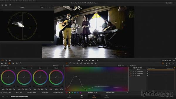 Using scopes to guide look development: DaVinci Resolve Guru: Mastering Scopes