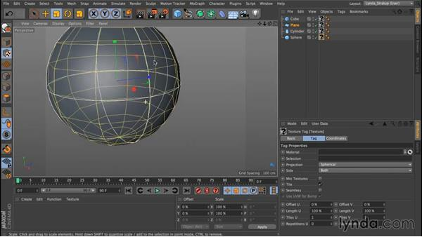 Texture axis and texture coordinates: Up and Running with Bodypaint in CINEMA 4D