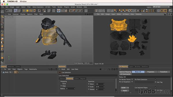 The selection island shortcut: Up and Running with Bodypaint in CINEMA 4D