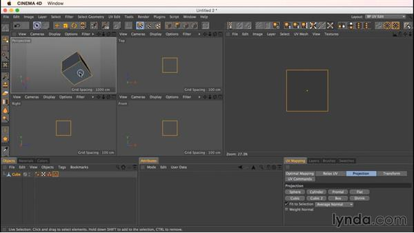Unwrapping a cube: Up and Running with Bodypaint in CINEMA 4D