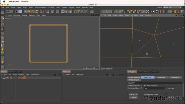 Unwrapping a rounded cube: Up and Running with Bodypaint in CINEMA 4D