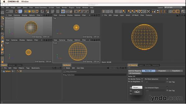 Unwrapping a sphere: Up and Running with Bodypaint in CINEMA 4D
