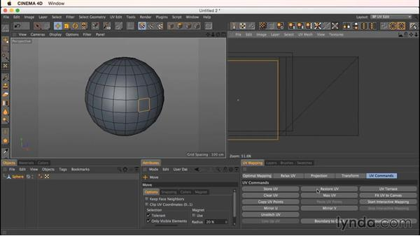 The UV commands: Up and Running with Bodypaint in CINEMA 4D