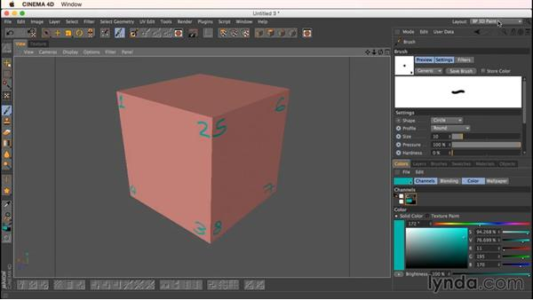 Move Up/Down Sequence: Up and Running with Bodypaint in CINEMA 4D