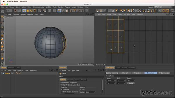 The Transform tab: Up and Running with Bodypaint in CINEMA 4D
