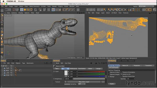 Wrapping up the dinosaur: Up and Running with Bodypaint in CINEMA 4D