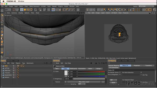 Unwrapping Mookie's head: Up and Running with Bodypaint in CINEMA 4D