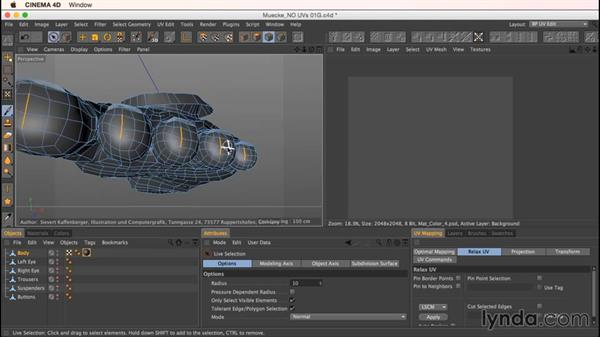 Unwrapping Mookie's feet: Up and Running with Bodypaint in CINEMA 4D