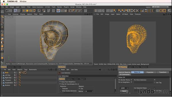 Unwrapping Mookie's ears: Up and Running with Bodypaint in CINEMA 4D