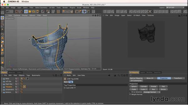 How to deal with Mookie's accessories: Up and Running with Bodypaint in CINEMA 4D
