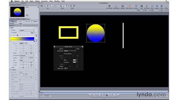Creating simple shapes: Motion 3 Essential Training