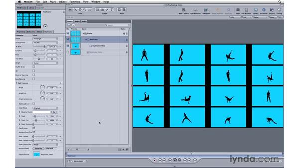 Replicating a video file: Motion 3 Essential Training