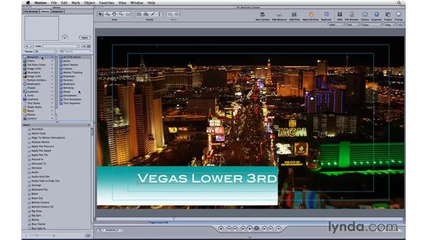 Creating a lower third replicator preset: Motion 3 Essential Training