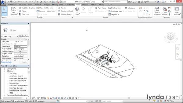 Creating 3D views: Rendering with Revit