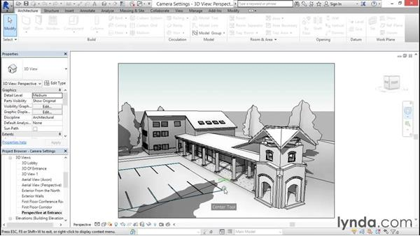 Navigating with the 3D steering wheel and ViewCube: Rendering with Revit