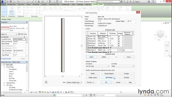 Working with wall layers: Rendering with Revit