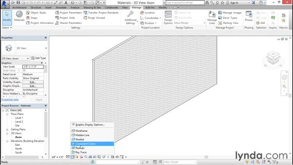 Understanding material appearance: Rendering with Revit