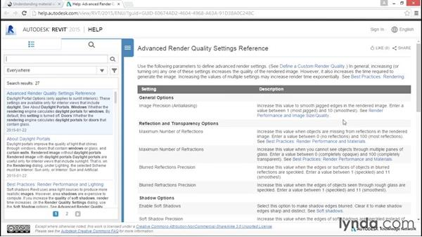 Defining quality settings: Rendering with Revit