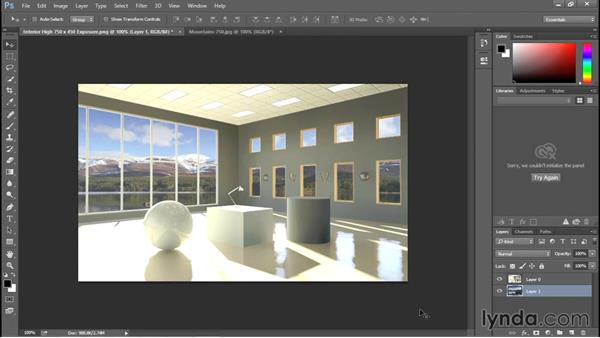 Adding a background using Photoshop: Rendering with Revit