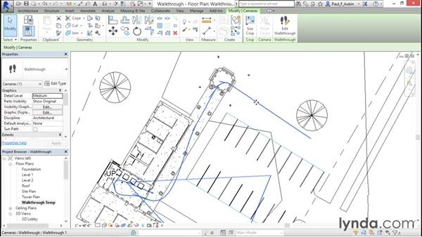 Creating a walkthrough: Rendering with Revit