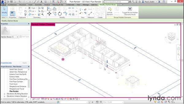 Rendering a plan: Rendering with Revit