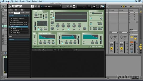 REAKTOR as a synth: Up and Running with REAKTOR