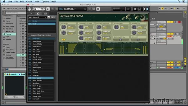 REAKTOR as a multi-effects processor: Up and Running with REAKTOR