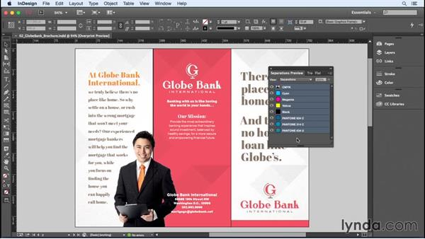 Checking color with Separations Preview: InDesign Insider Training: Color