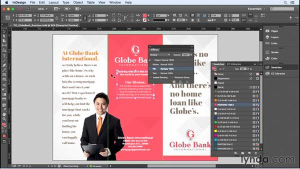 Using transparency effects with spot colors: InDesign Insider Training: Color
