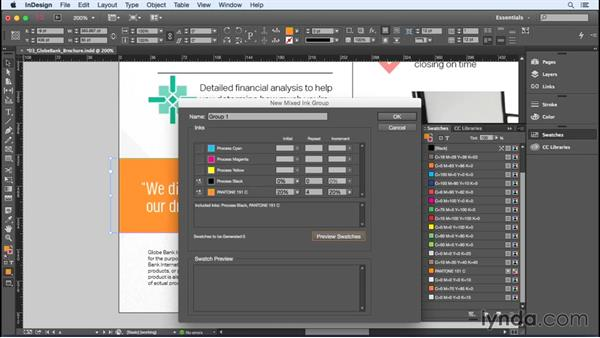 Adding mixed ink swatches: InDesign Insider Training: Color