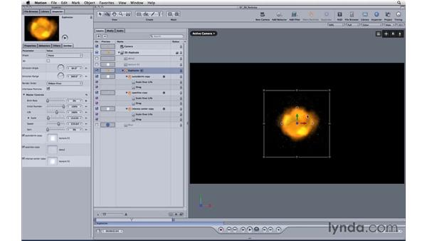 Creating 3D particles: Motion 3 Essential Training