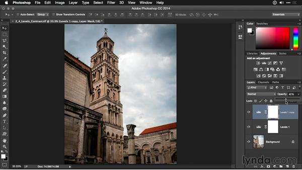 Improving contrast with Auto Levels: Photoshop CC Adjustment Layer and Blend Mode Workshop
