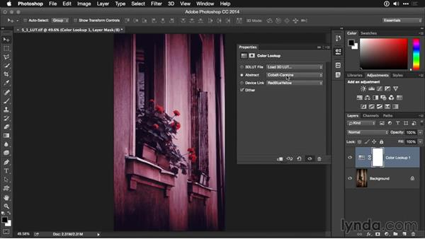 Using the Color Lookup adjustment layer: Photoshop CC Adjustment Layer and Blend Mode Workshop